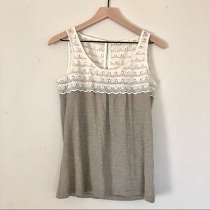 J crew lace Tank cami cotton xs